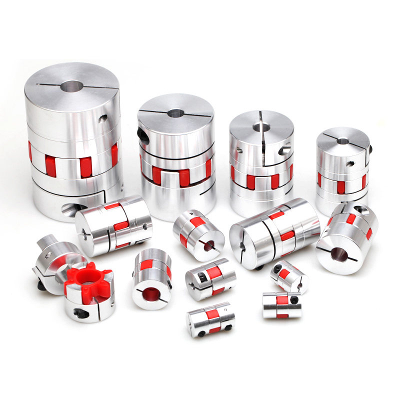 CNC Motor Jaw  Couplers Flexible Spider plum Elasti Shaft Coupling D25 L30 4mm 5mm 6mm 6.35mm  8mm 9mm 10mm 12mm