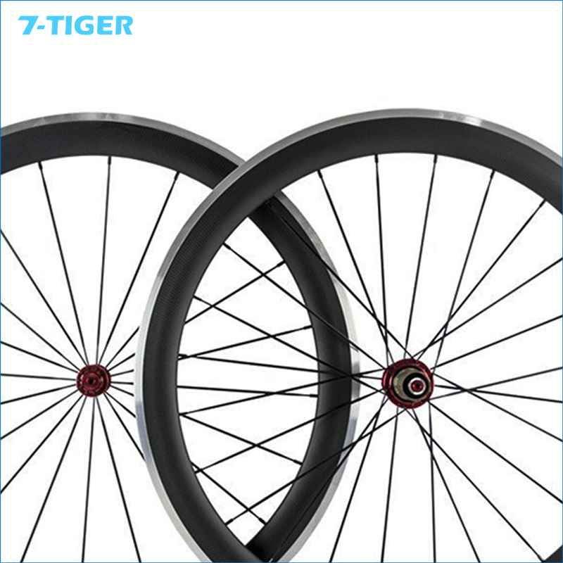 700C Carbon Road Bike Clincher Wheelset  50 mm Bicycle Wheel Rim with Alloy Brake Side with R36 hub 1423 spoke 2017 spomann road bike carbon wheelset 50mm bicycle carbon clincher wheel set high temperature rims 3 colors bicycle parts