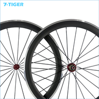 700C Carbon Matt Road Bike Clincher Wheelset 38mm Bicycle Wheel Rim With Alloy Brake Side With