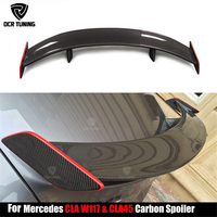 For Mercedes CLA CLASS W117 C117 CLA45 Carbon Fiber GT Rear Trunk Spoiler With Red line CLA 200 250 260 CLA45 car styling 2013+
