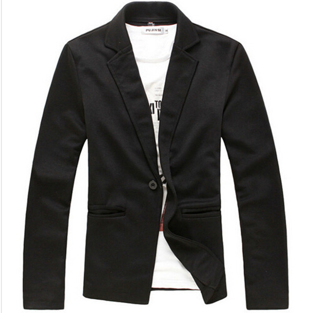 2015 Spring Men's Fashion Knitting Slim Fit Blazer Jackets/Male Casual two-button Pure Color Leisure Suit Coats