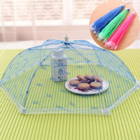 Large Foldable mesh umbrella food cover Anti Fly Mosquito Net Tent for Picnic Barbecue Party Sports kitchen accessories