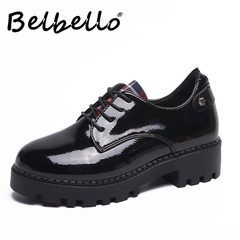 Xiaying Smile Heel Pumps New Fashion Casual Shoes Women Spring Autumn Concise Hell Platform Lace up