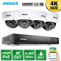 ANNKE 8CH 2MP Ultra HD POE Netzwerk Video Security System 8MP H.265 NVR Mit 4X2 megapixel 30m nachtsicht Wetterfeste IP CCTV Kamera