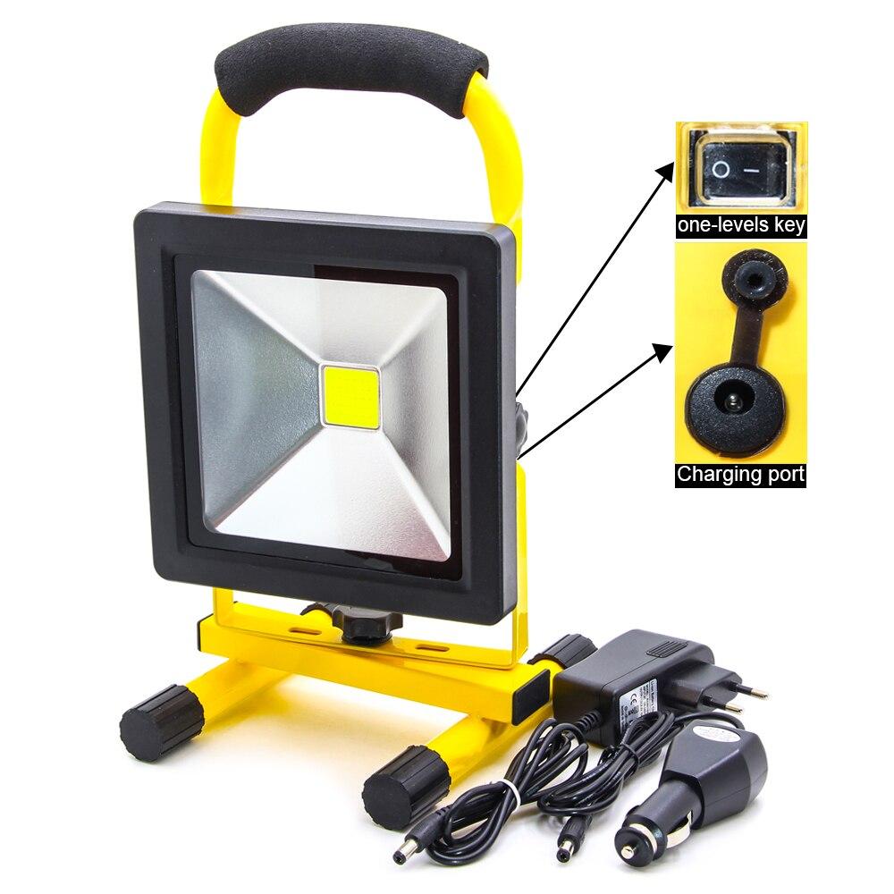 Slim20W COB прожекторы Подсветка открытый Походные фонари, встроенный Перезаряжаемые литиевых батарей аварийного свет для рыбалки