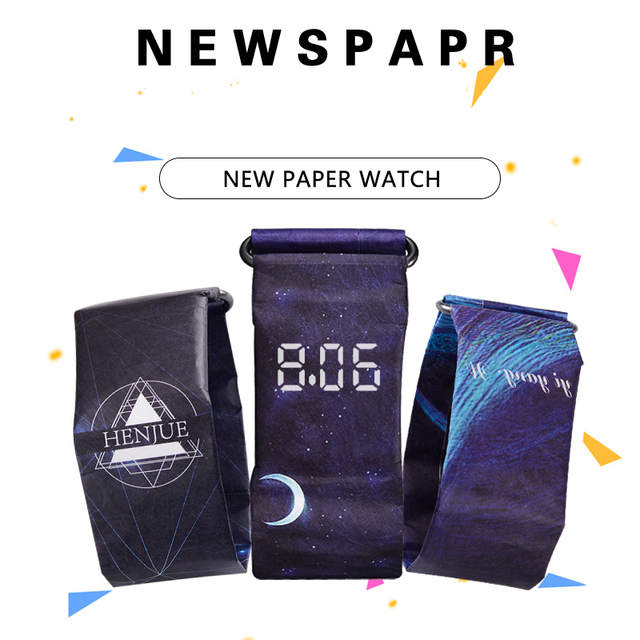 Creative Paper Watch LED Waterproof Clock Paper Strap Digital Watches Sport Watc
