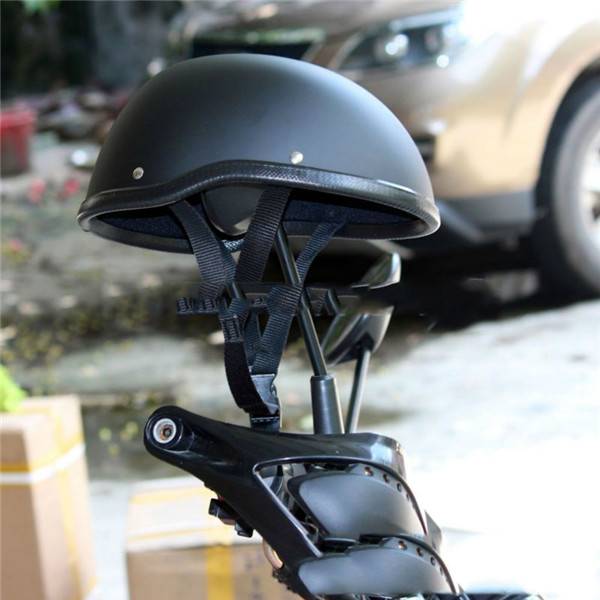 WWII Motorcycle Helmet vintage Half Face Helmet Retro German Chopper Cruiser Matte Black helmets cascos para harley DOT Approvel 2016 newest netherlands authorization beon retro air force harley style half face motorcycle helmet b 100 of abs matte black cat