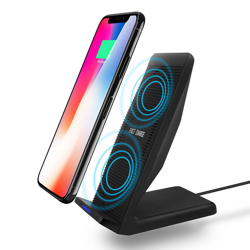 Car Mount Fast Wireless Charging Charger Phone Stand Cooling Fan Phone Holder For iPhone 8 Plus X Samsung Galaxy S8 S9 Plus