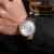 Marca de luxo Ultra fina Data Homens De Couro Genuíno Relógio de Quartzo Rosa de Ouro Casual Relógios Desportivos Homens Relógio de Pulso Relogio masculino