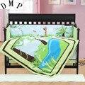 7 шт. Вышитое одеяло в кроватку комплекты детской кроватки детские постельные принадлежности для мальчиков простыня подушка для игрушечной...