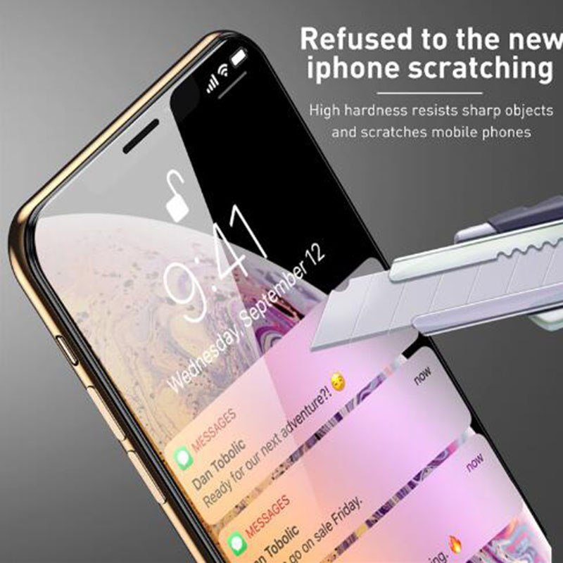 Tempered Glass On the For Iphone 7 X XR Xs Max Iphone 6 S 6s 8 Plus Screen Protector For Iphone6 Iphone7 Iphone8 7Plus Glass 9D in Phone Screen Protectors from Cellphones Telecommunications