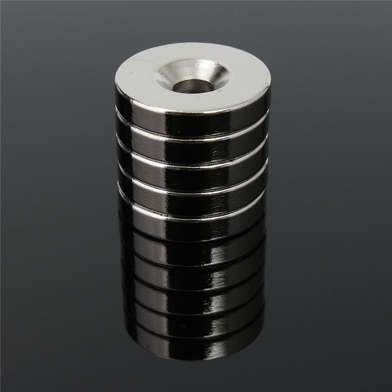 5pcs 20 x 4mm Round Neodymium Counter Sunk Ring Magnets Hole 5mm Rare Earth N50 Neodymium Magnet Neodymium Magnet diy 5mm round neodymium magnets purple 216 pcs