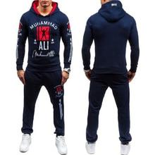 2016 mode Muhammad Ali Sweatshirt Männer Trainingssportkleidung Männer Freizeit Hoodies Pullover Outwear Trainingsanzug Setzt Männer Hody