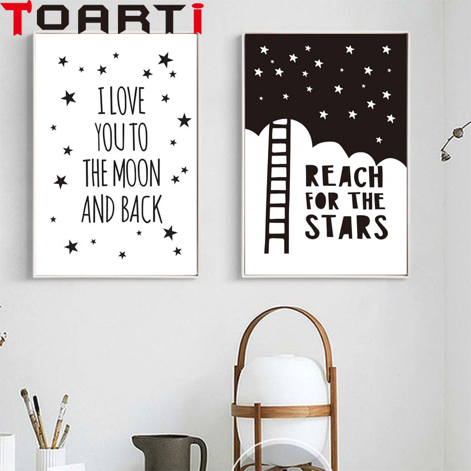 Hot Sale I Love You To The Moon And Back Classic Poster Canvas ...