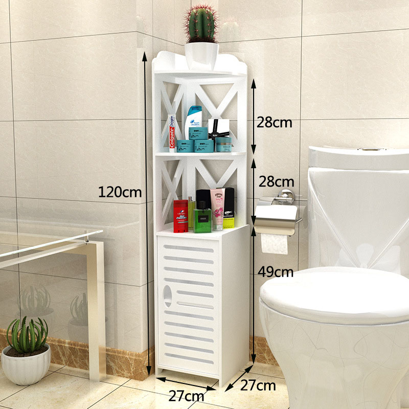 все цены на Modern Bathroom Storage Rack Floor Standing Toilet Cabinet Folding Washbasin Shower Shelf Bathroom Corner Cabinet