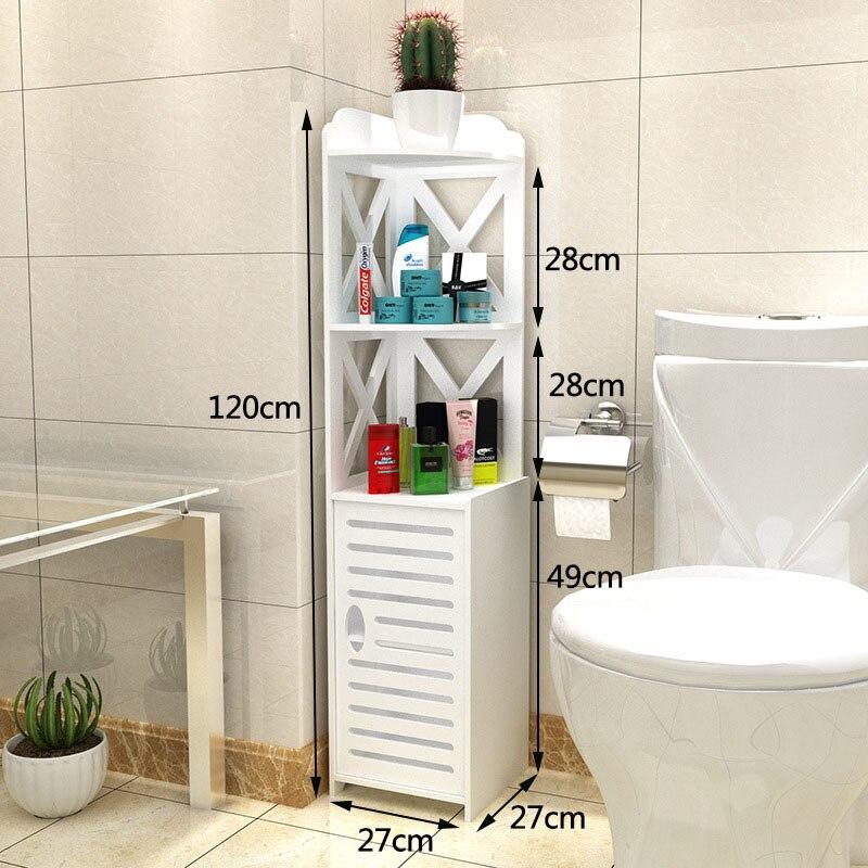 Moderne Rack De Stockage De Salle De Bains Au Sol Armoire de Toilette Lavabo Pliant Étagère de Douche D'angle De Salle de bain Armoire