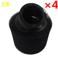 4x 38mm For Motorcycle Power Pod Scooter Cone race Air Filter Replacement ATV