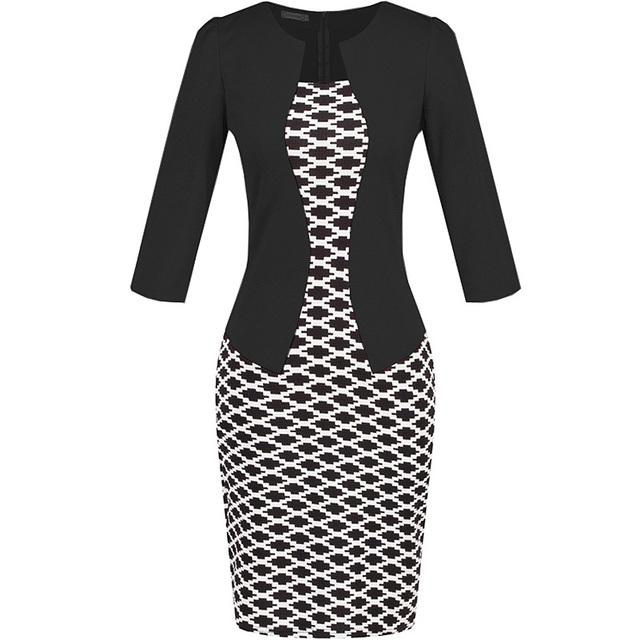 2in1 Formal Faux Jacket Pencil Dress