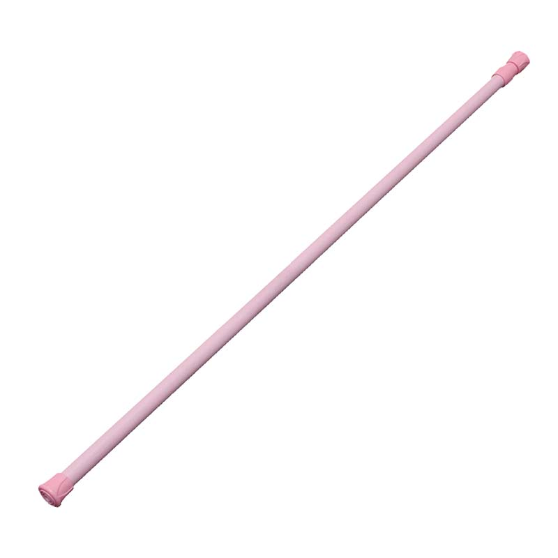 Spring Loaded Extendable Telescopic Net Voile Tension Curtain Rail Pole Rod Rods Pink 60*110cm