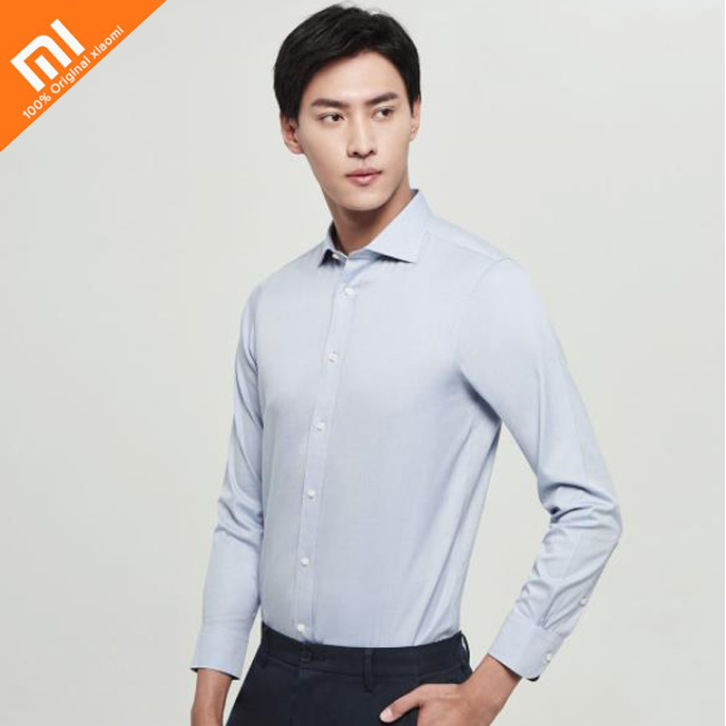 6 colors original xiaomi mijia Fanke shirt free hot Windsor collar 100 cotton comfortable breathable men