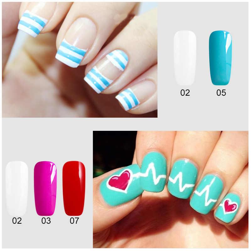BUKAKI 1 pièces 12 couleurs dessin Gel vernis pur paillettes peinture à la main Gel vernis à ongles Semi Permanent Nail Art ensemble