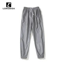 Summer 3m Reflective Loose Men Pants Hip Hop Dance Harajuku Jogger Trousers Night Streetwear