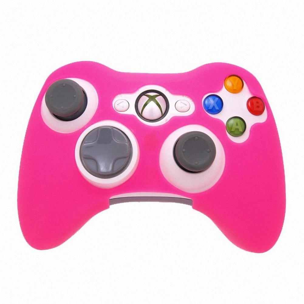New Arrival Game Accessories Glow in Dark Game Controller Anti-Slip Silicone Gamepad Case Skin Protector Cover for Xbox 360 & image