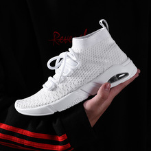 2019 new fashion spring and summer flying woven mens shoes trend sports casual breathable
