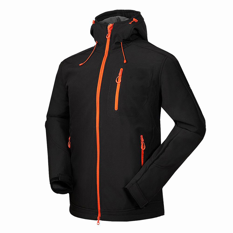 Spring Outdoor Fleece Soft shell Jacket Men Sports Coat Winter Outdoor Ski Leisure Jacket Waterproof Waterproof Climbing Jacket