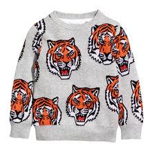 Littlemandy Tiger  Baby Girls Boys Sweater shirt Kids Long Sleeve Tops Cotton 2019 Brand Winter Clothes Clothing