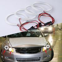 4pcs Super Bright 7000K White 3528 Smd Led Angel Eyes Halo Rings Car Styling For Honda