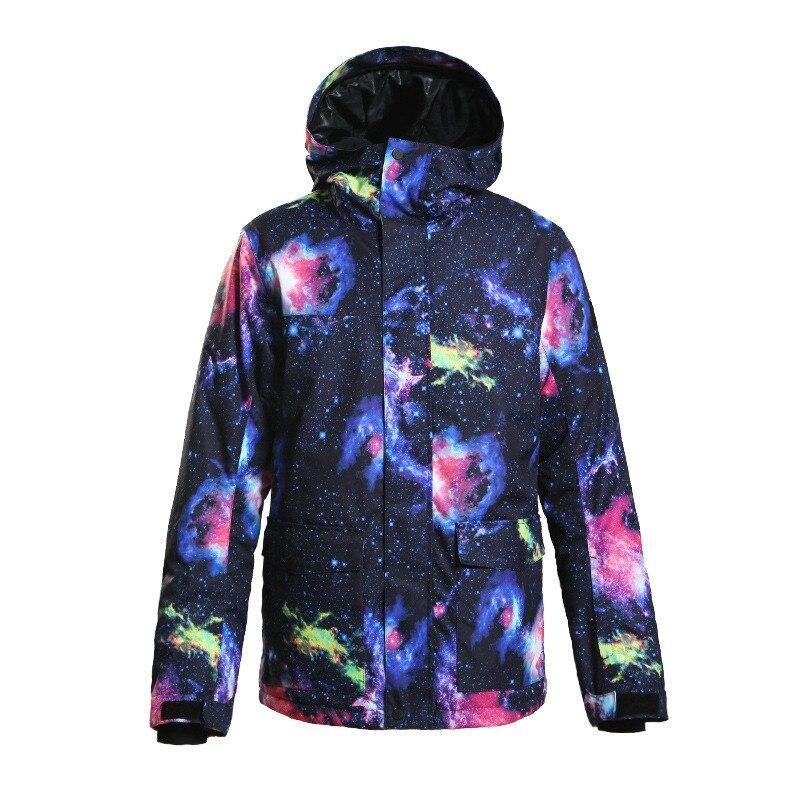 Combinaison de Ski homme simple et double feuilles veste de snowboard extérieur style coupe-vent imperméable et chaud nouveau costume de ski pour hommes.