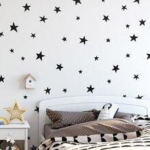 45/24 шт., звездная Наклейка на стену с рисунком для детской комнаты, домашний декор, маленькие звезды, виниловые настенные наклейки, детский Д...