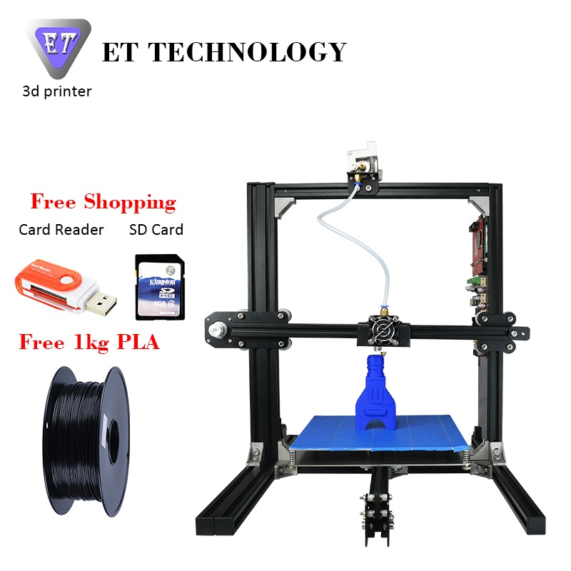 ET Prusa I3 3D Printer Metal Frame High Precision Impressora 3D DIY Kit LCD Free 2016 Newest Digital Printing Machine 2017 newest tevo tarantula prusa i3 3d printer diy kit