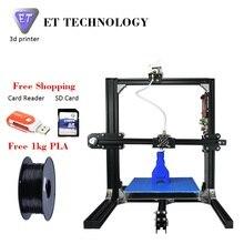 ET Prusa I3 3d-принтер Металлический Каркас Высокая Точность Impressora 3D DIY Kit ЖК Бесплатно 2016 Новые Цифровая Печатная Машина