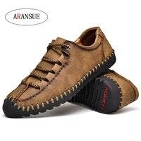 ARANSUE New Men's Leisure Shoes Large size superfine fibers fashion Walking shoes Antiskid and abrasion resistant Men's Shoes