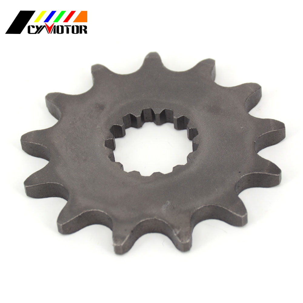 13T 14T Front Engine Chain Sprocket For WRF YZF YZ MX TDR TZR MT EN EX KLE GS TT <font><b>DT</b></font> XT 250 400 450 <font><b>500</b></font> 650 800 R3 Versys image