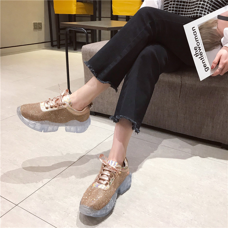 Rouge Chaussures Printemps De Étudiants Net Marée 2 Femmes Sport Diamant Mode 1 Nouvelle Simples 1nqxUa