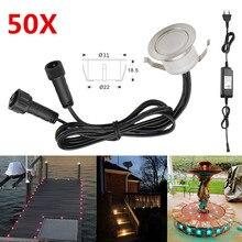 50pcs/lot 31mm LED Decking Stair Step Light Garden Yard Patio Terrace Waterproof Lanscape Inground Paver Lighting Spot 12V IP67
