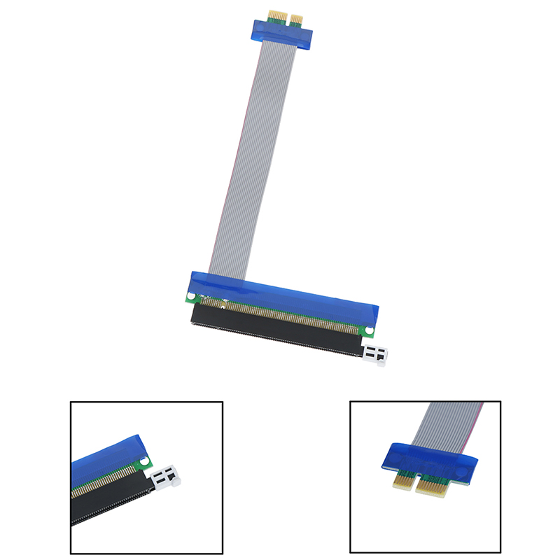 PCIE 1X To 16X Express Slot Riser Card Extender Extension Ribbon Flexible Cable