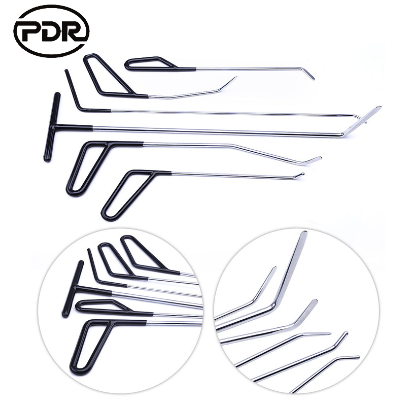 Фотография PDR Paintless Dent Removal Repair Hooks Push Rods Door Dings Hail Repair Spring Steel Rods Hail Damage Repair High Quality