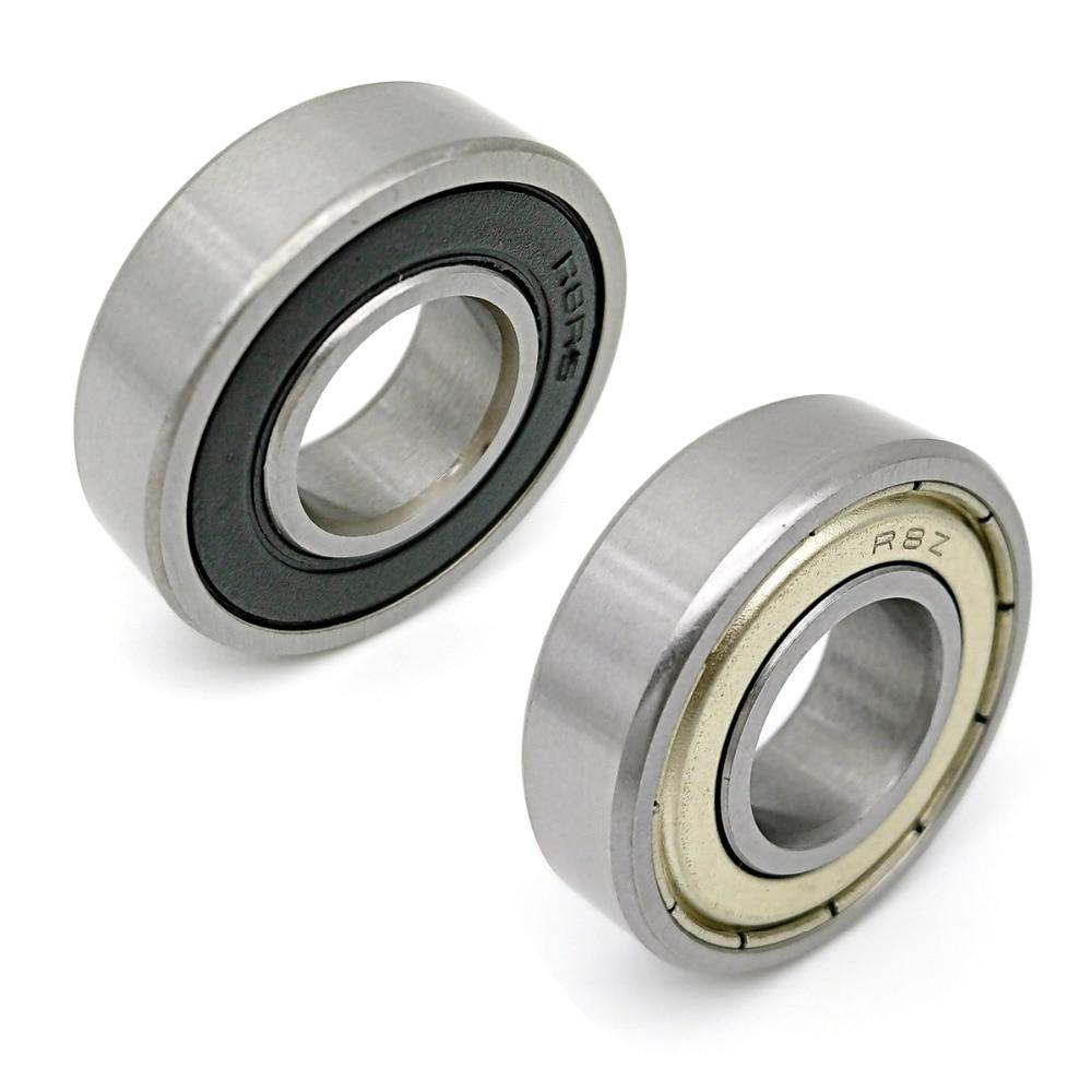 DALUO Bearing R8 R8ZZ R8Z R8RS R8-2RS 5/8x1-3/8x11/32 Inch Ball Bearings Single Row Deep Groove Ball Bearings