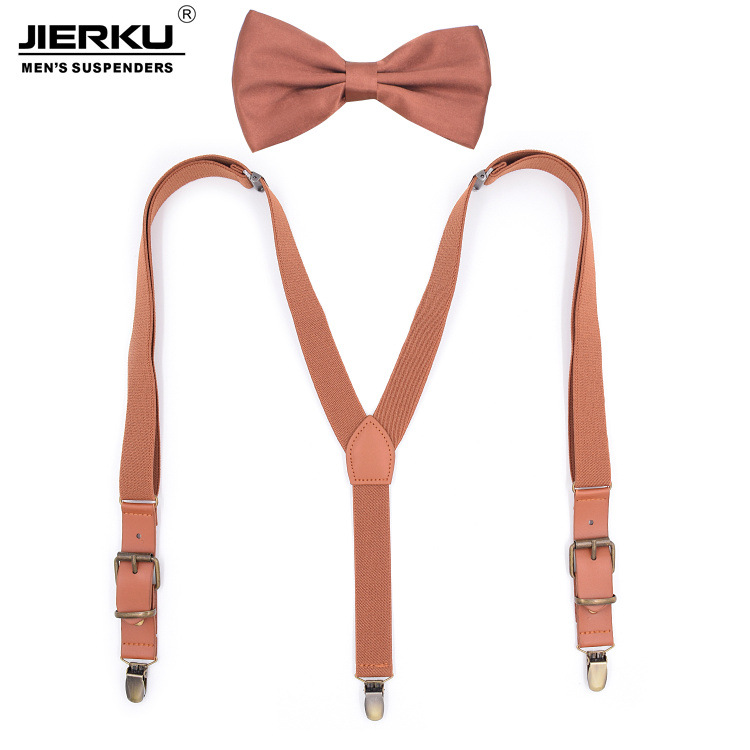Elastic Vintage Men Women Suspenders 3 Clip Strap Braces For Trousers Pu Leather Suspenders Men Pants Brown 115cm Bretels Braces