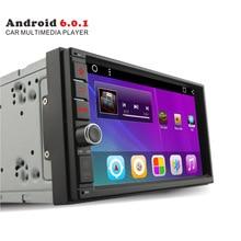 Весь продажи Android 6.0 7 «quad core 2din Car Radio Видео taplet PC player для VW Toyota Nissasn с GPS Bluetooth FM AM RDS