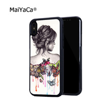 цена на butterfly effect beautiful girl soft edge hard back mobile phone cases for iphone 4s 5 5c 5s 5se 6s 6plus 7 7plus case cover