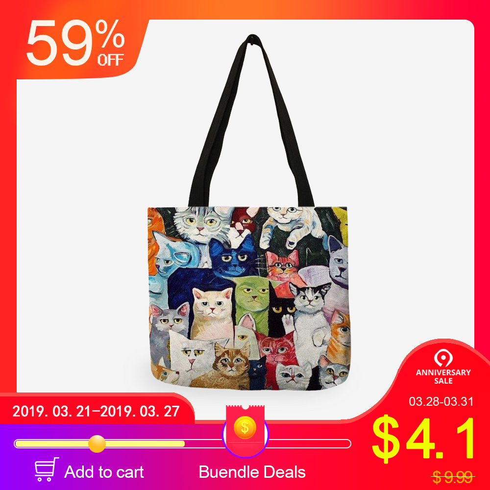 Custom Anime Girls Tote Bag For Women Canvas Fabric Bags Eco Reusable Shopping Bags Traveling Beach Casual Useful Shoulder Bag Top-handle Bags Women's Bags