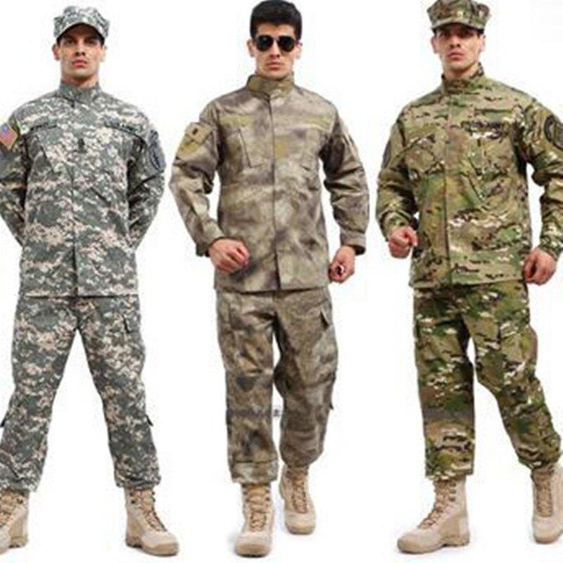 Militaire CS tactique uniforme chemise pantalon Camouflage en plein air maintien Combat US armée hommes femmes vêtements costume chasse Jungle ensembles