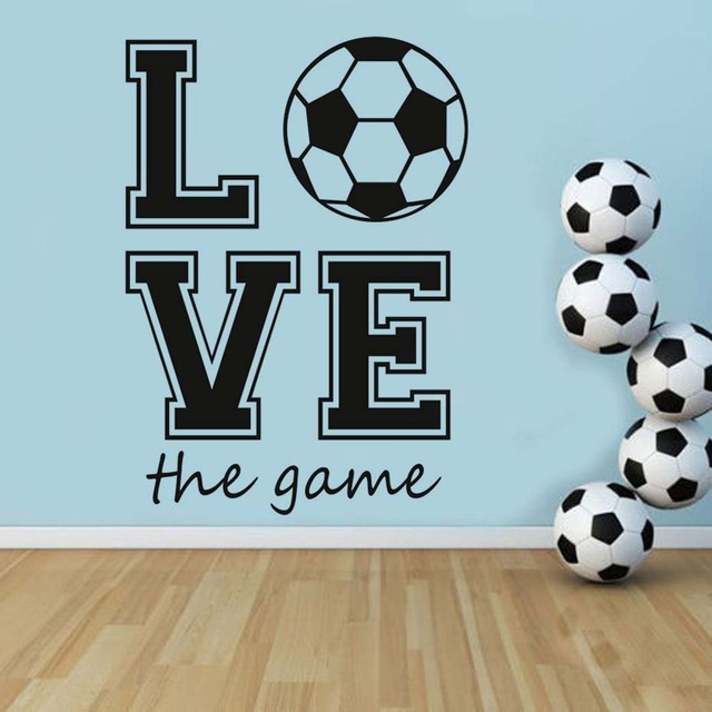 Football Fans Sport Game Wall Stickers Creative Wall Art Soccer Wallpaper  Mural Sport Wall Decals Bedroom