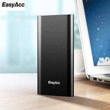 Easyacc Запасные Аккумуляторы для телефонов 5000 мАч, Портативный полимер 5000 мАч тонкий сплав Мощность Bank Bateria наружный Мощность Bank батареи