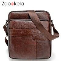 Zobokela Men Messenger Bag Genuine Leather Bag Casual Small Business Vintage Luxury Handbag Designer Shoulder Men